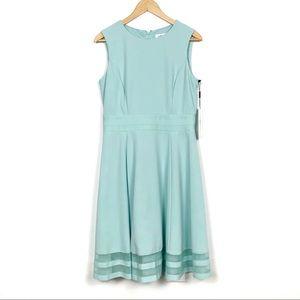Calvin Klein | Illusion-Trim Fit & Flare Dress